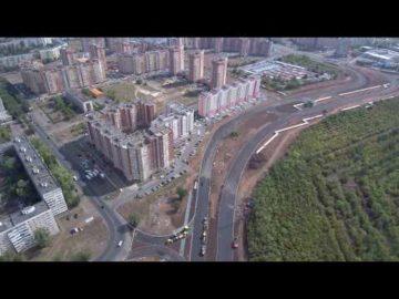 Аэросъемка строительства дороги Северный проезд - 26.08.2018г.